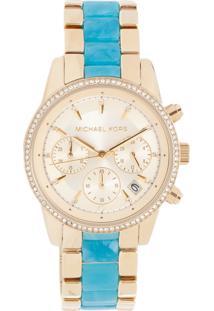 Relógio Digital Azul Michael Kors feminino   Shoelover f99ff30bda