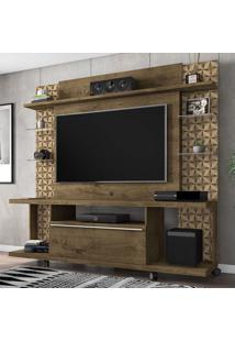 Estante Para Tv Até 55 Polegadas 1 Porta New Torino Rústica/3D - Bechara Móveis