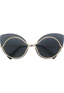 2c336efaf3e5e Farfetch. Marc Jacobs Eyewear Óculos De Sol Gatinho - Preto
