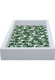Bandeja Folha Coração De Leão- Branca & Verde- 30X15Kapos