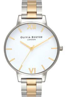 Relógio Olivia Burton Feminino Aço Prateado E Dourado - Ob16Bl45