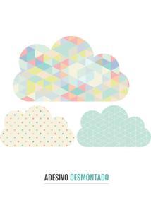 Adesivo Decohouse De Parede Clouds Multicolorido
