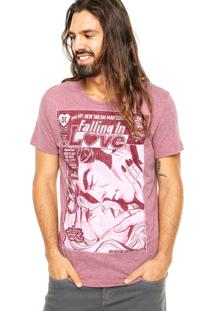 Camiseta Fashion Comics Clark Kente And Lois Lane Vinho