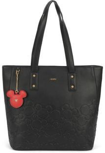 Bolsa Lateral Luxcel Mickey Mouse Preta