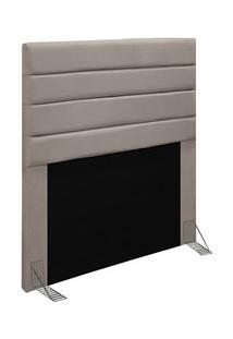 Cabeceira Cama Box Solteiro 90Cm Rubi D10 Suede Bege - Mpozenato