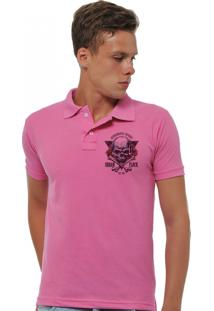 Camisa Polo Joss Urban Flock Rosa