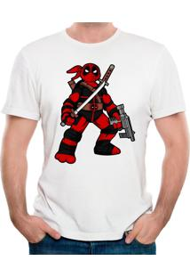 Camiseta Ninja Deadpool Geek10 - Branco