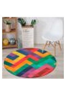 Tapete Redondo Wevans Multi Color 84Cm