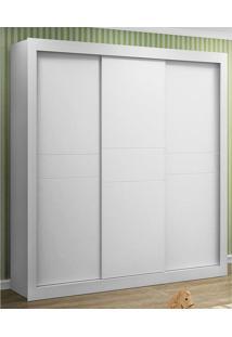 Guarda-Roupa Esmeralda 3 Portas Branco Acetinado Canaã