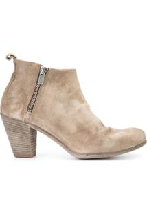 Officine Creative Ankle Boot De Couro 'Plaisir' - Neutro