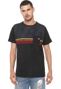 Camiseta Billabong Fifty 50 Preta