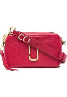 Marc Jacobs Logo-Plaque Leather Satchel Bag - Rosa