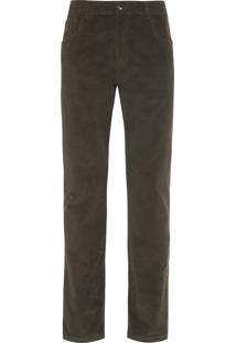 Calça Masculina Veludo Cotelê 5 Pockets - Verde