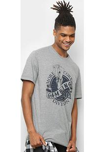 Camiseta Mcd Box Fit High Stakes Masculina - Masculino-Cinza