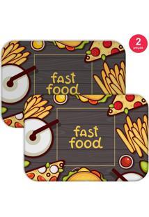 Jogo Americano Love Decor Fast Food Chumbo - Kanui