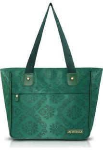 Bolsa Jack Design Shopper Damasco - Feminino-Verde
