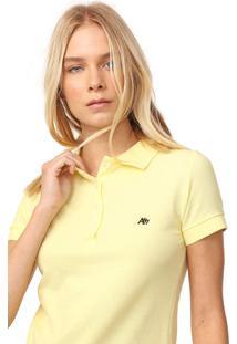 Camisa Polo Aeropostale Lisa Amarela