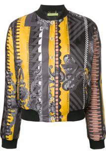 Versace Jeans Couture Jaqueta Bomber Estampada - Cinza