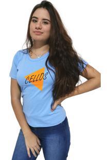 Camiseta Feminina Cellos Nacho Premium Azul Claro - Kanui