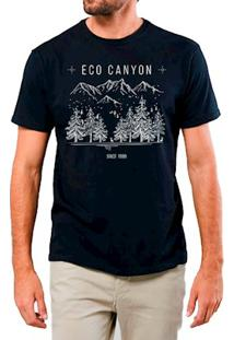Camiseta Masculina Eco Canyon Draw Camp Preto