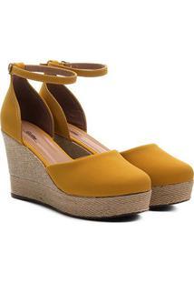 Sandália Griffe Espadrille Feminina - Feminino-Amarelo