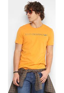 Camiseta Ellus Cotton Fine Originals Asa Classic Masculina - Masculino-Laranja