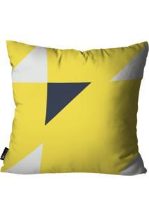 Capa Para Almofada Mdecore Abstrato Amarelo 55X55