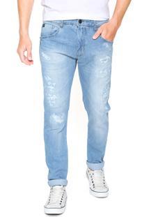 Calça Jeans Sommer Slim Henrique Azul