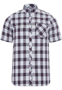 Camisa Masculina Tartan - Branco