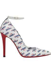 Fendi Sapato Fendimania - Branco