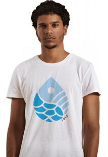 Camiseta Masculina Joss Gota Branco