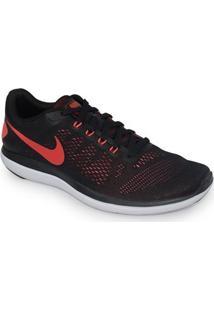 Tênis Nike Flex 2016 Rn Preto Vermelho - 830369-011