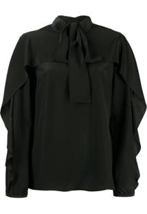 Red Valentino Pussy Bow Blouse - Preto
