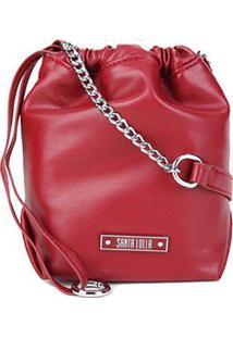 Bolsa Santa Lolla Mini Bag Argolas Corrente Feminina - Feminino-Vermelho