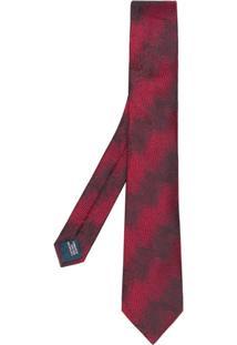 Lanvin Gravata De Seda Estampada - Vermelho