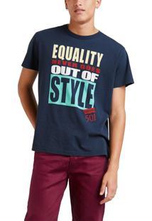 Camiseta Levis Masc Equality Never Goes Out Of Style Azul Azul