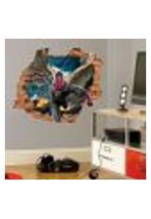 Adesivo De Parede Buraco Falso 3D Infantil Visão - Eg 100X122Cm