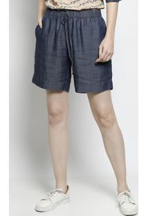 Bermuda Jeans Com Amarraã§Ã£O - Azulscalon
