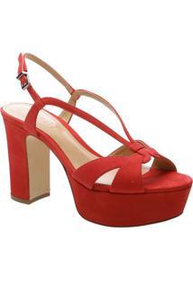 Sandália Meia Pata Com Tiras - Vermelhaschutz