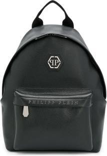 Philipp Plein Logo Detail Backpack - Preto