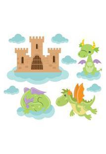 Adesivo De Parede Infantil Dragões Alados