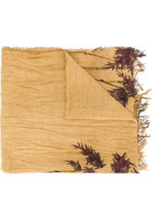 Uma Wang Echarpe Com Estampa De Bambu - Marrom