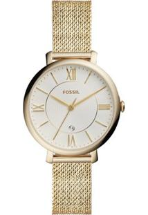Relógio Fossil Feminino Ladies Jacqueline - Es4353/1Tn Es4353/1Tn - Feminino-Dourado
