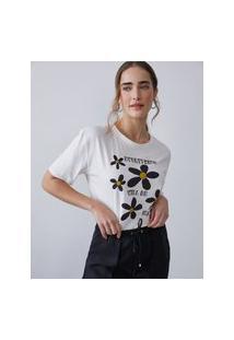 Amaro Feminino T-Shirt Everything Will Be Ok, Off-White