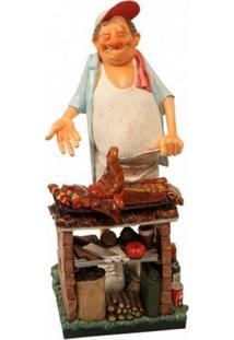 Escultura Decorativa De Resina O Churrasqueiro