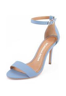 Sandalia Salto Alto Lisa Azul