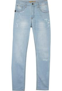 Calça John John Slim Toquio 3D Jeans Azul Masculina (Jeans Claro, 40)