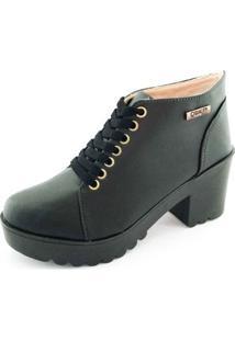 Bota Quality Shoes Feminina - Feminino-Preto