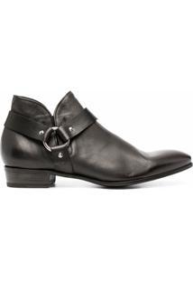 Lidfort Ankle Boot Com Salto Alto - Marrom
