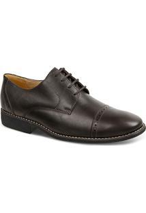 Sapato Social Masculino Derby Sandro Moscoloni Suarez Marrom Escuro